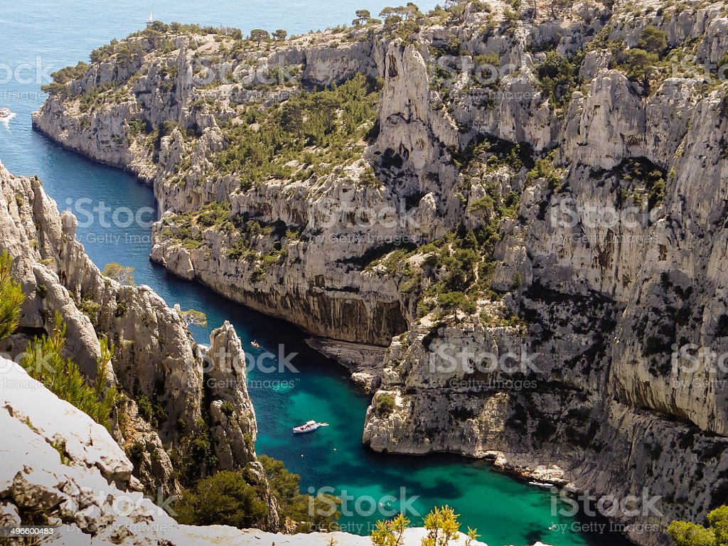Calanques de Marseille stock photo