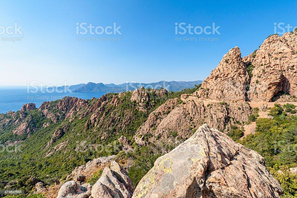 Calanques de Piana Corsica royalty-free stock photo