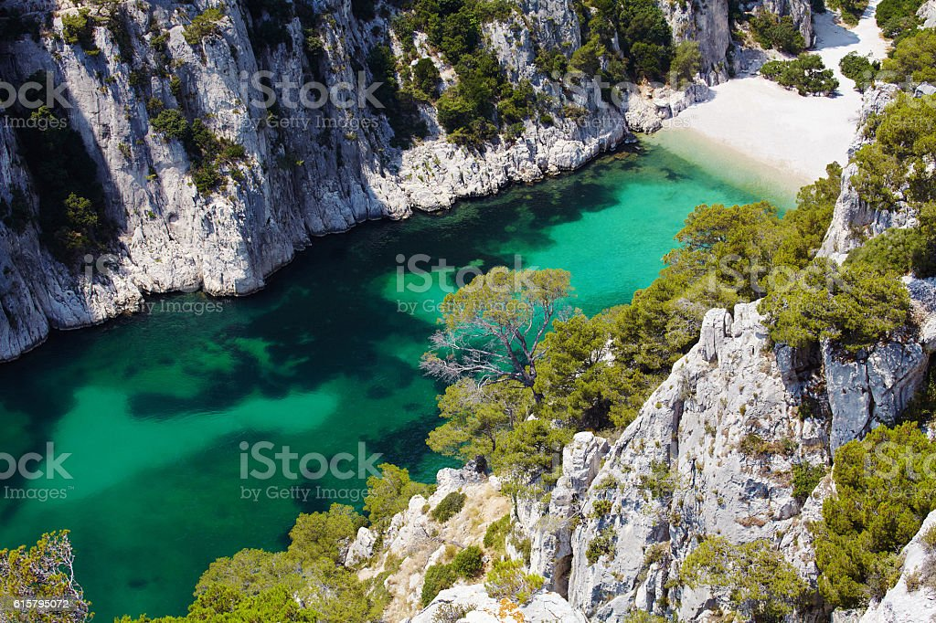 Calanques d'En Vau near Cassis Provence stock photo
