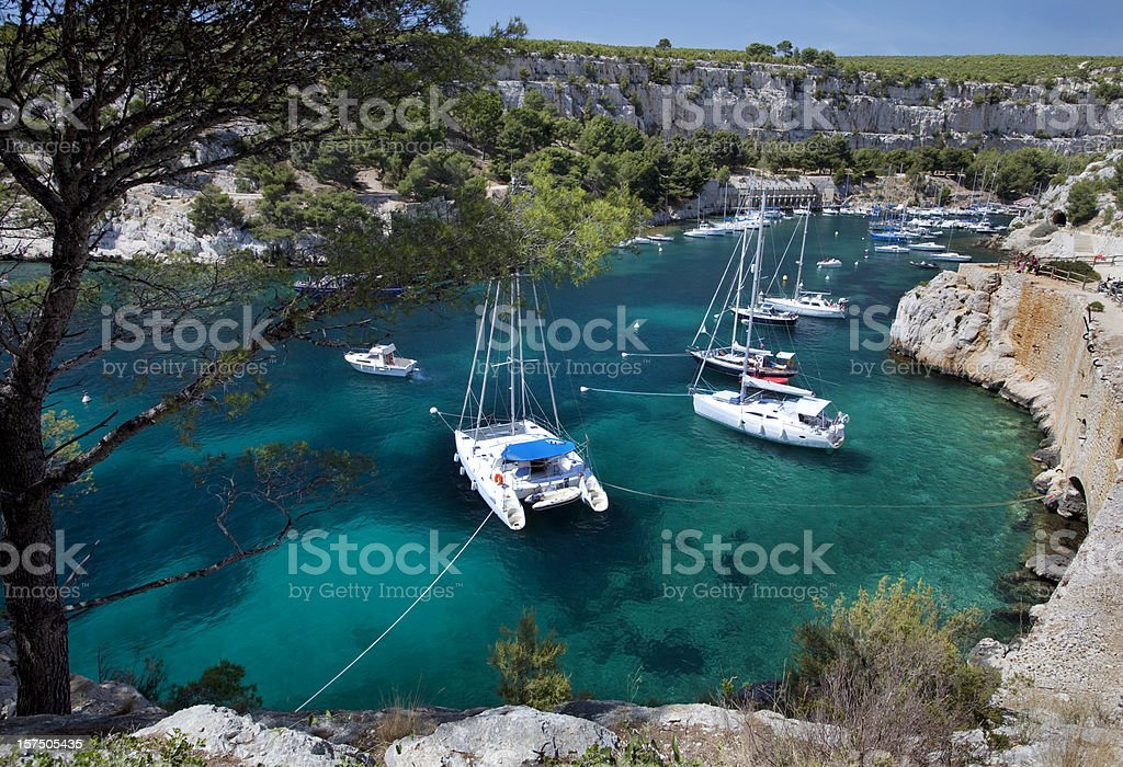 Calanques near Cassis on French Riviera stock photo