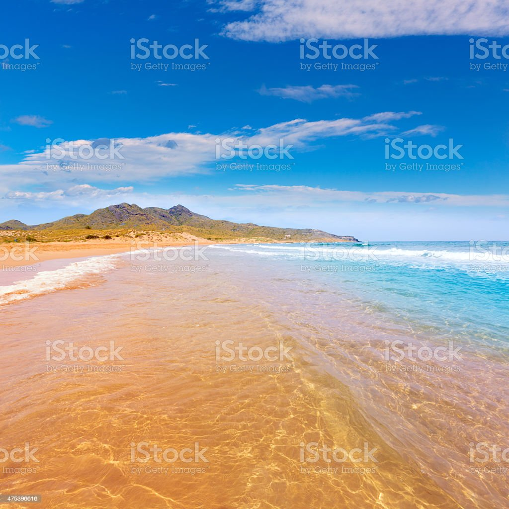 Calblanque beach Park Manga Mar Menor Murcia stock photo
