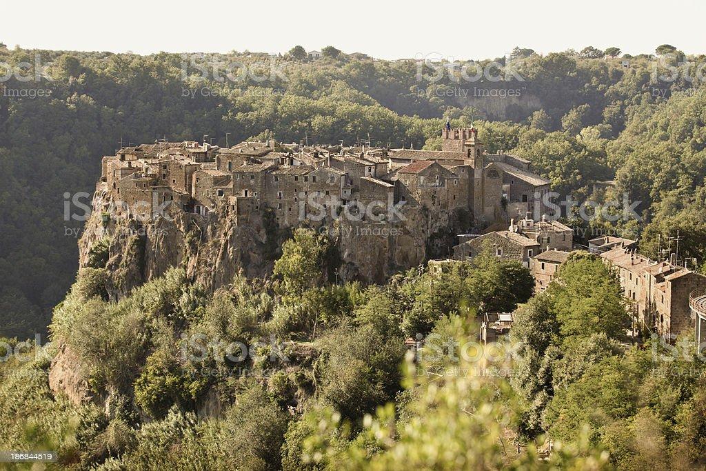 Calcata cityscape in Lazio, Italy royalty-free stock photo