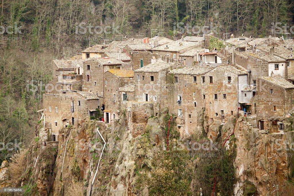 Calcata Panoramical View - detail stock photo