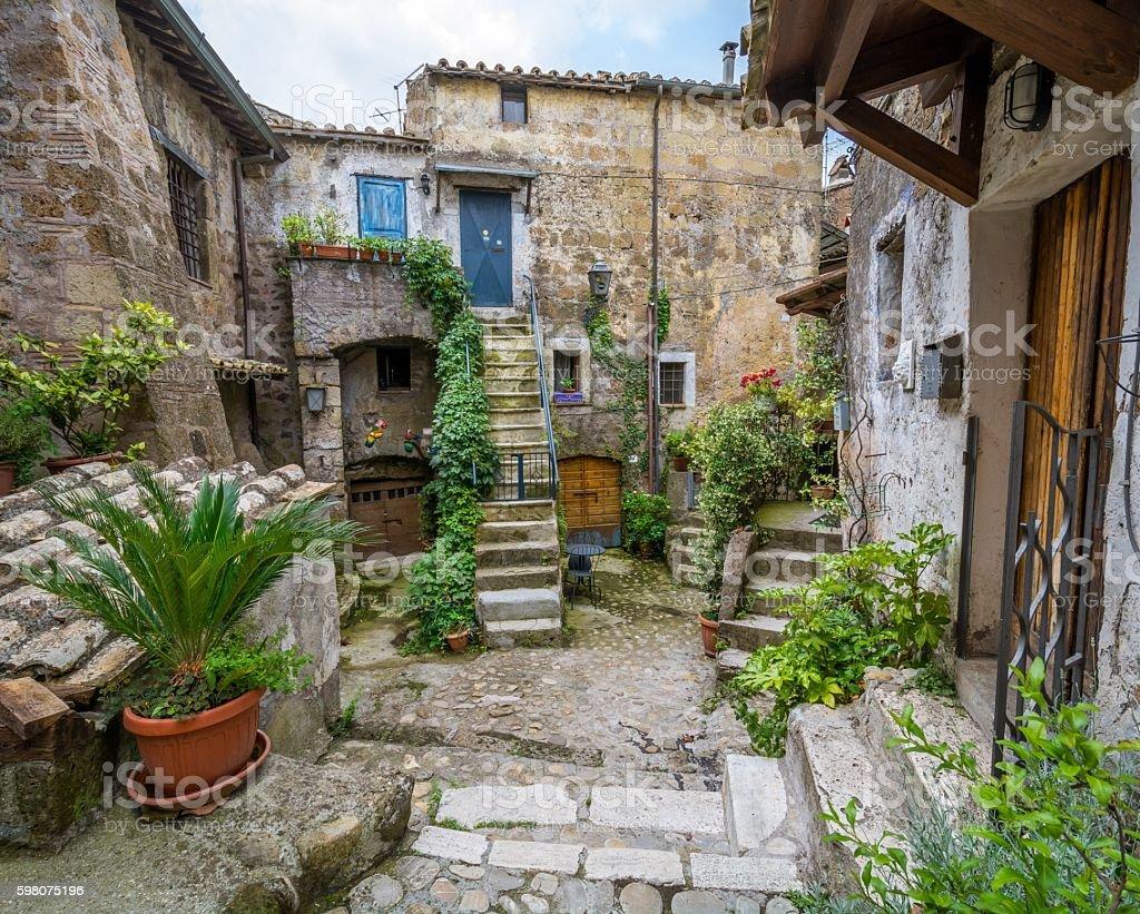 Calcata, Viterbo Province, Lazio (Italy) stock photo