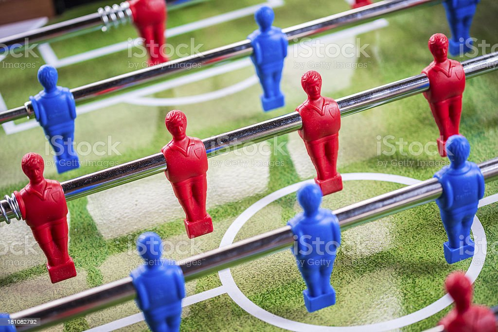 Calcetto foosball table football stock photo