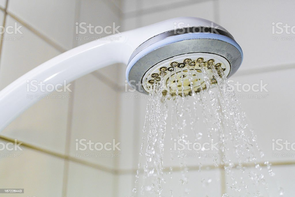 Calcified shower head royalty-free stock photo