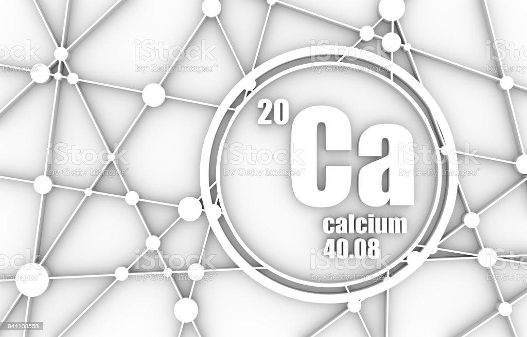 Calcium chemical element. stock photo
