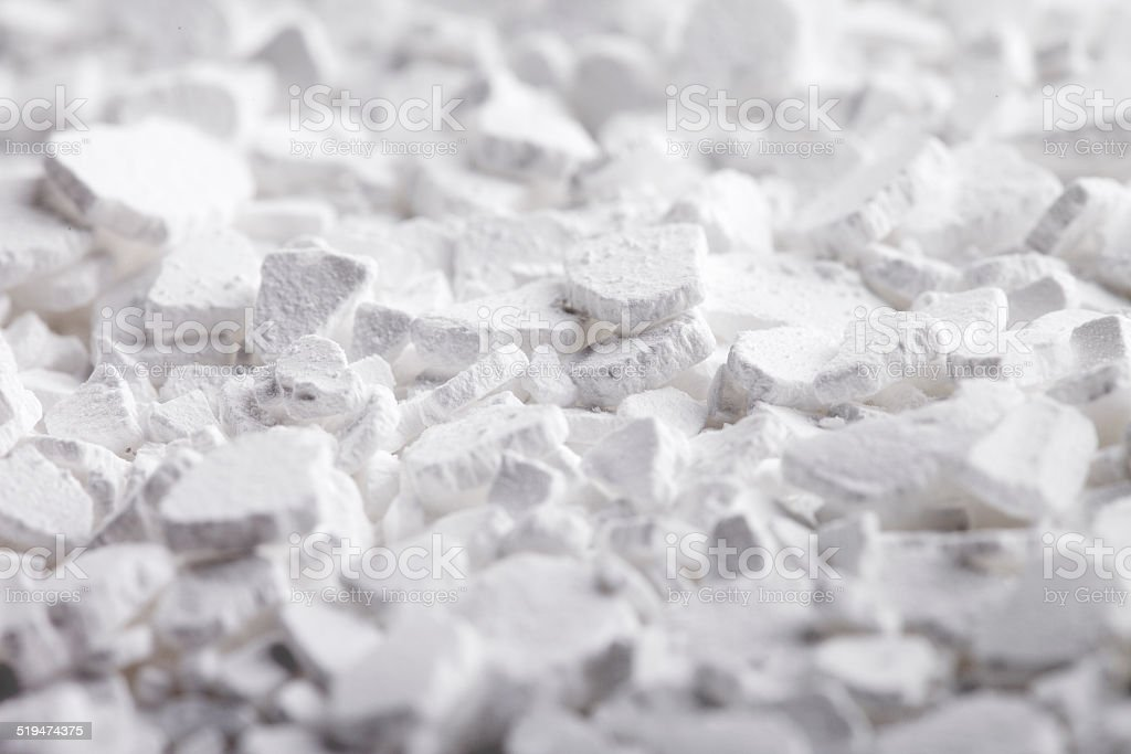 Calcium Chloride Flakes stock photo