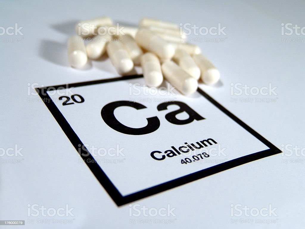 Calcium Supplements royalty-free stock photo