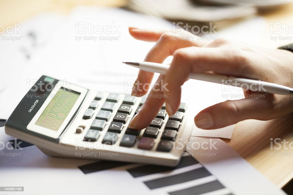 Calculate stock photo