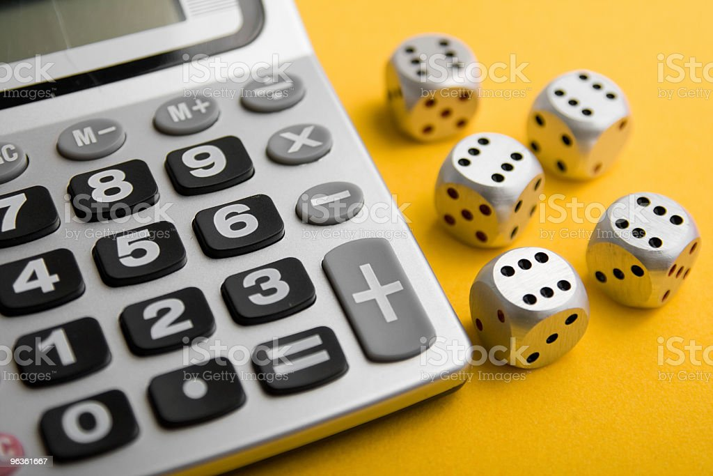 Calculated Risk royalty-free stock photo