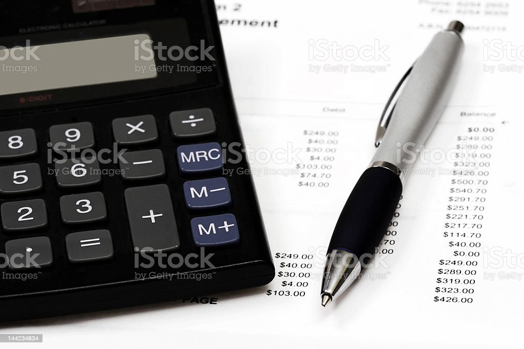 Calculating accounts royalty-free stock photo