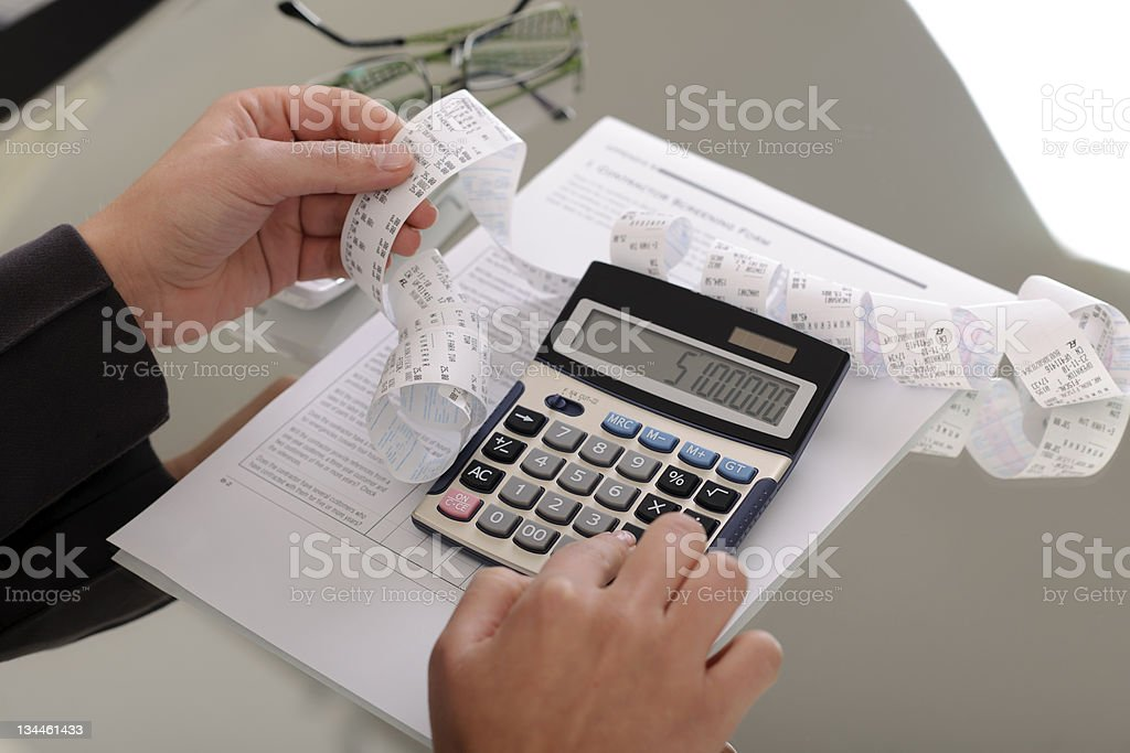 Calcul des factures photo libre de droits