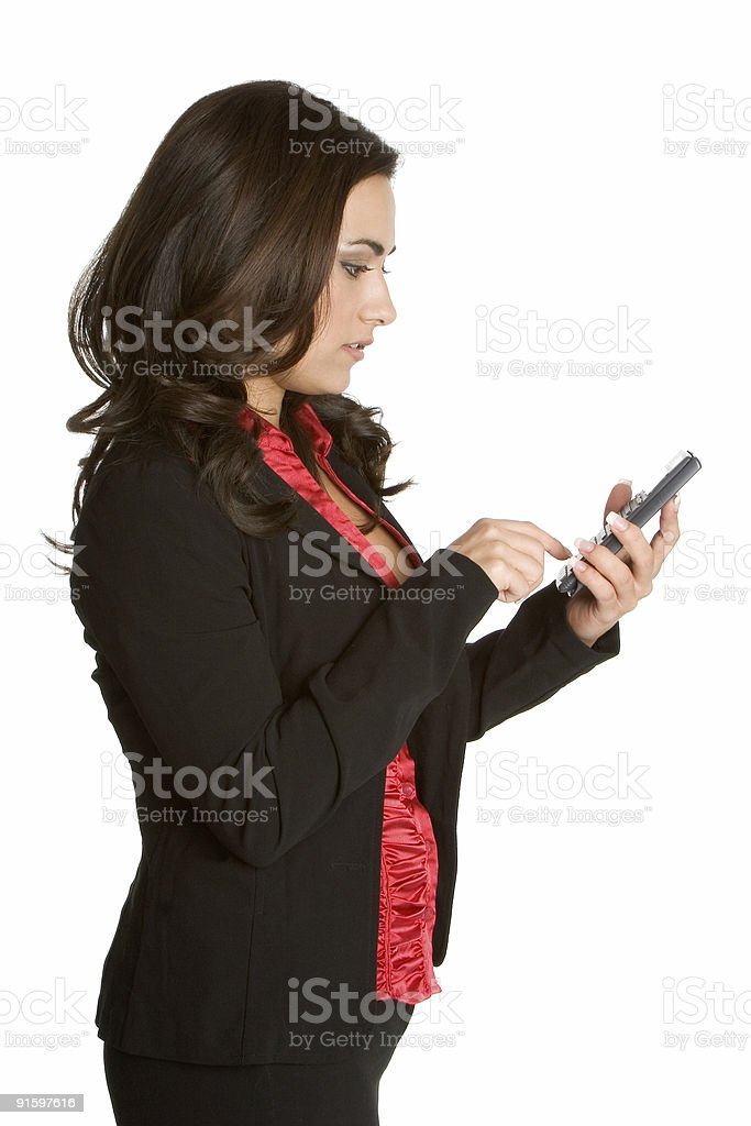 Calculating business lady royalty-free stock photo