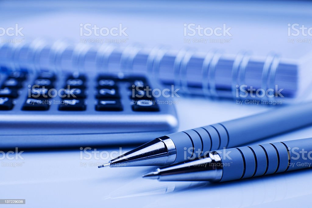 Calculating equipement stock photo