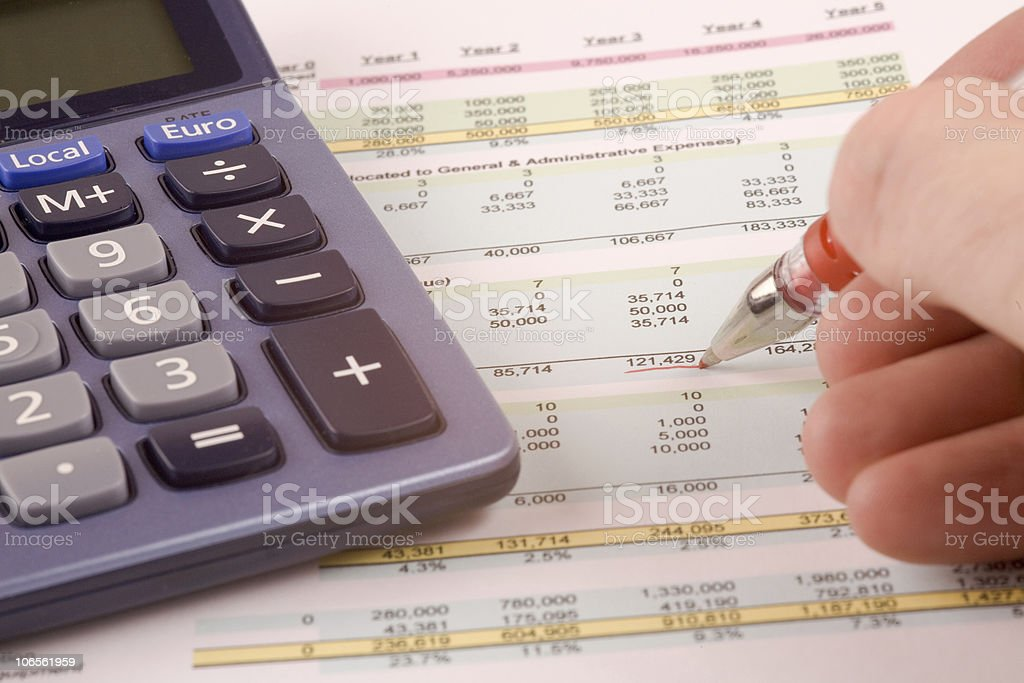 Calculating Figures royalty-free stock photo