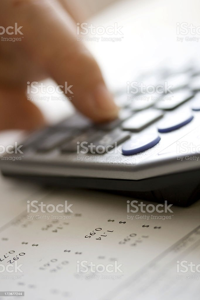 Calculating financial data royalty-free stock photo