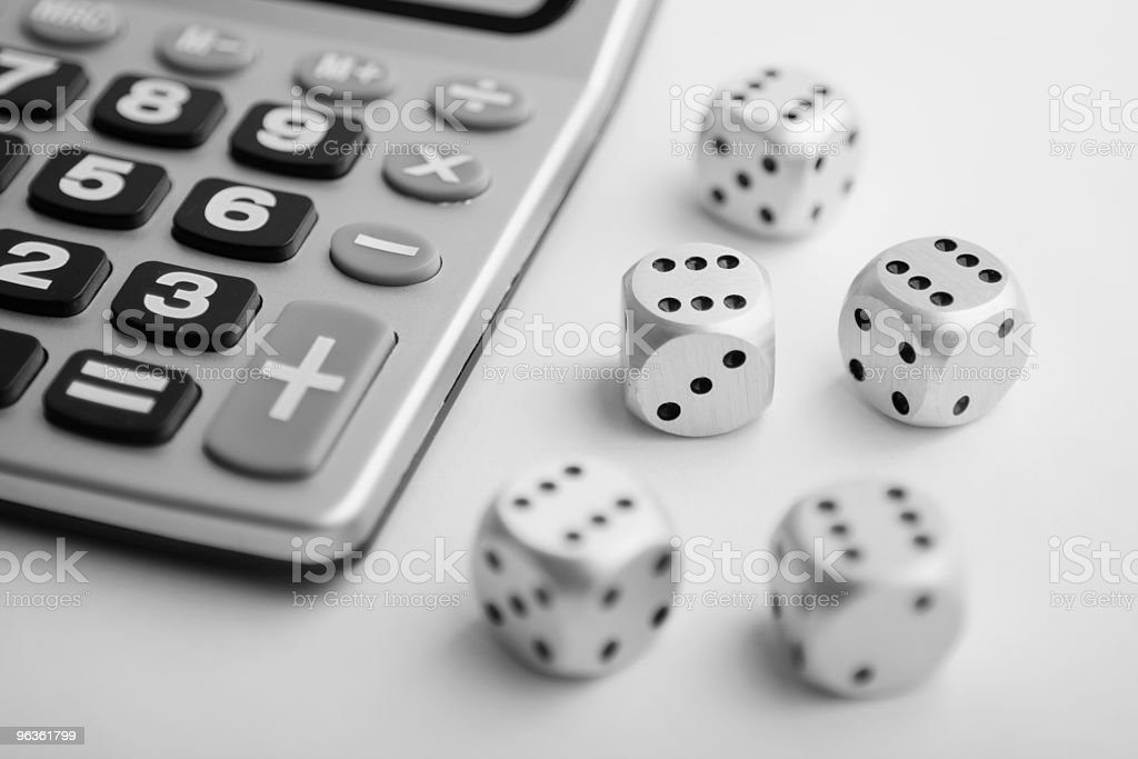 Calculating Finanical Risk royalty-free stock photo