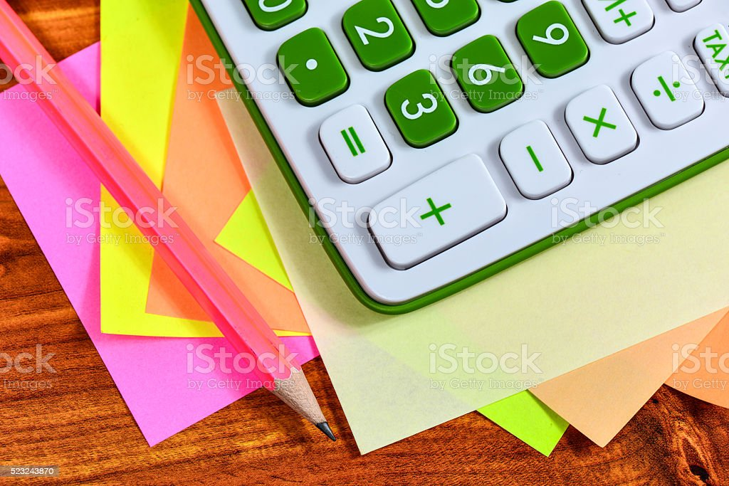 Calculating machine stock photo