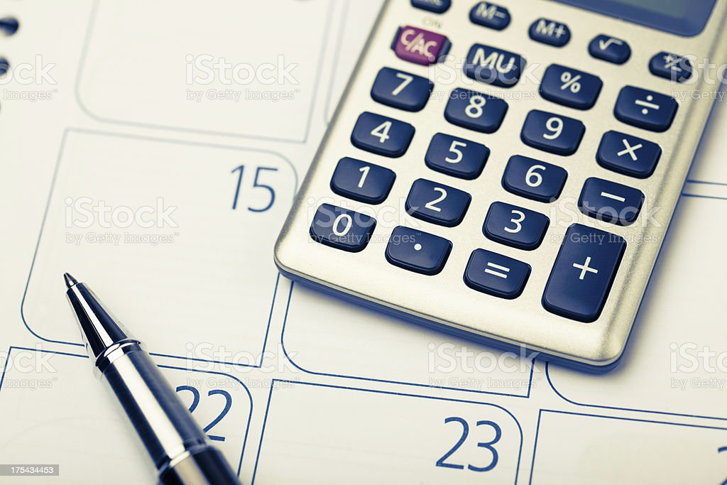 calculating on deadline royalty-free stock photo