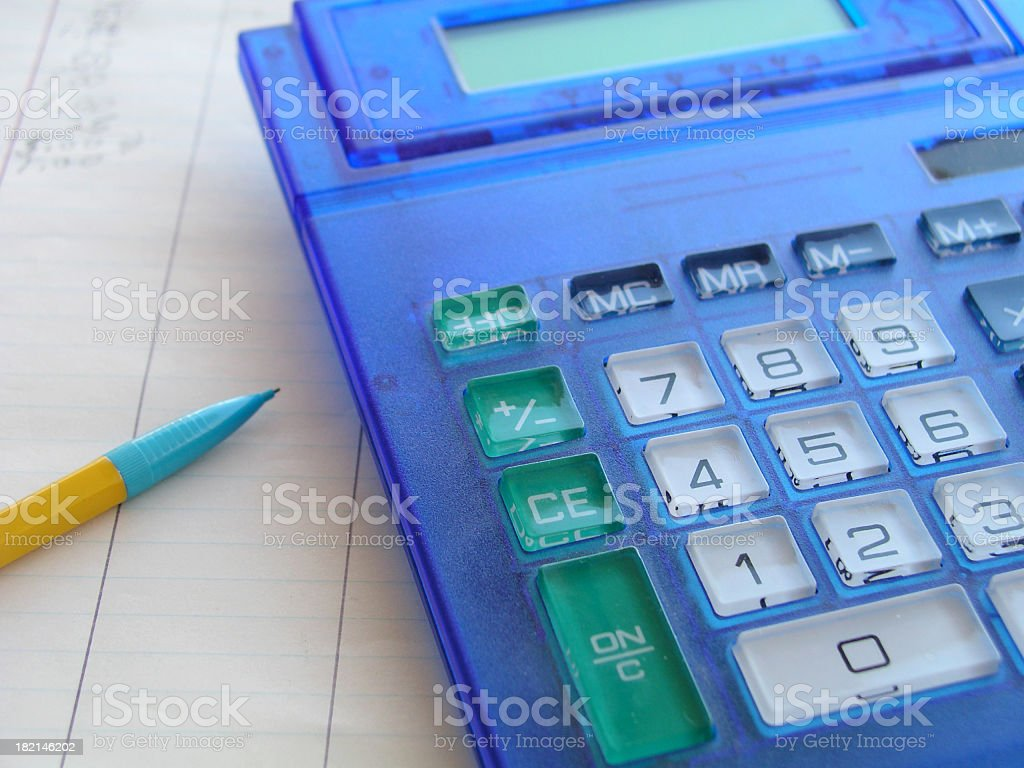 Calculating stock photo