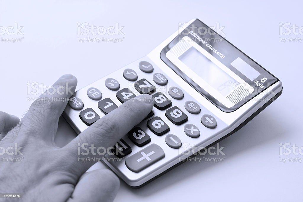 Calculating stock photo