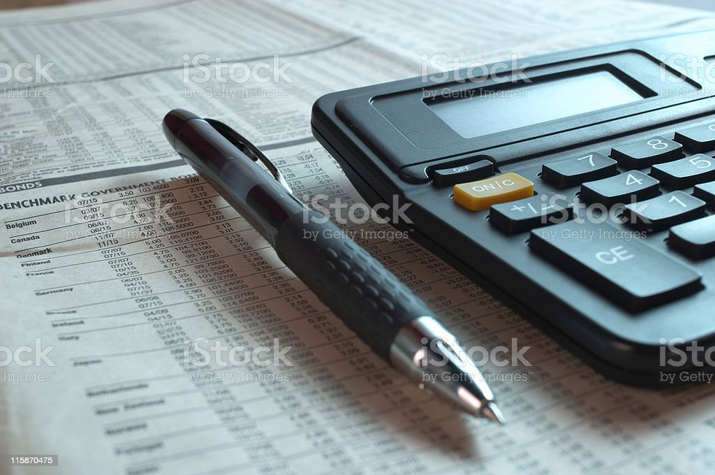 Calculating profit 01 royalty-free stock photo