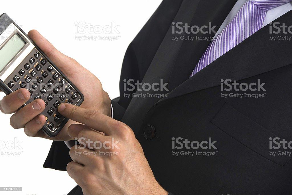 calculating profits stock photo