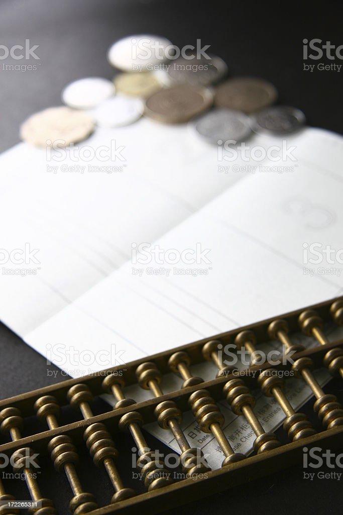 Calculating savings stock photo