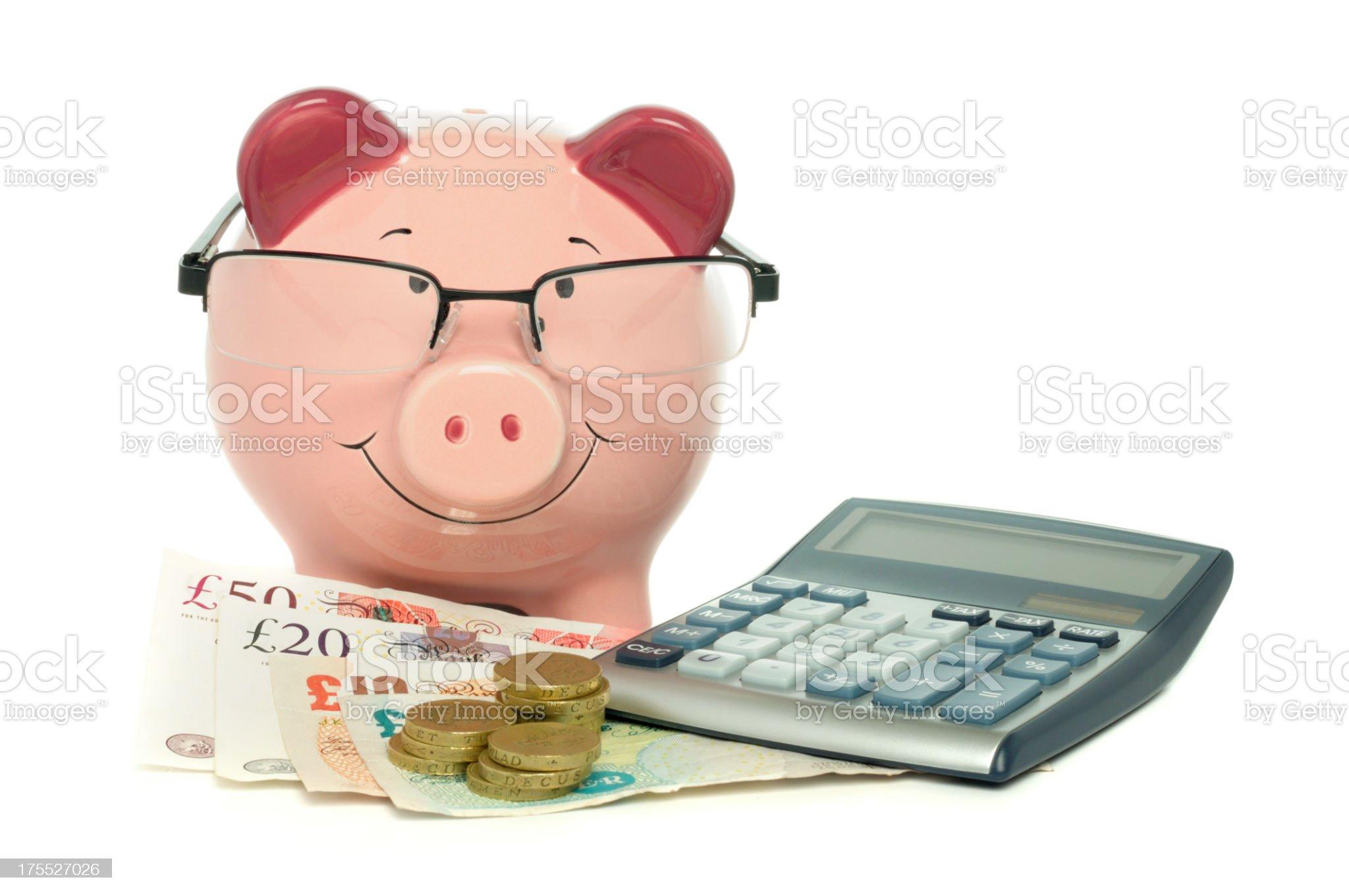 Calculating savings royalty-free stock photo