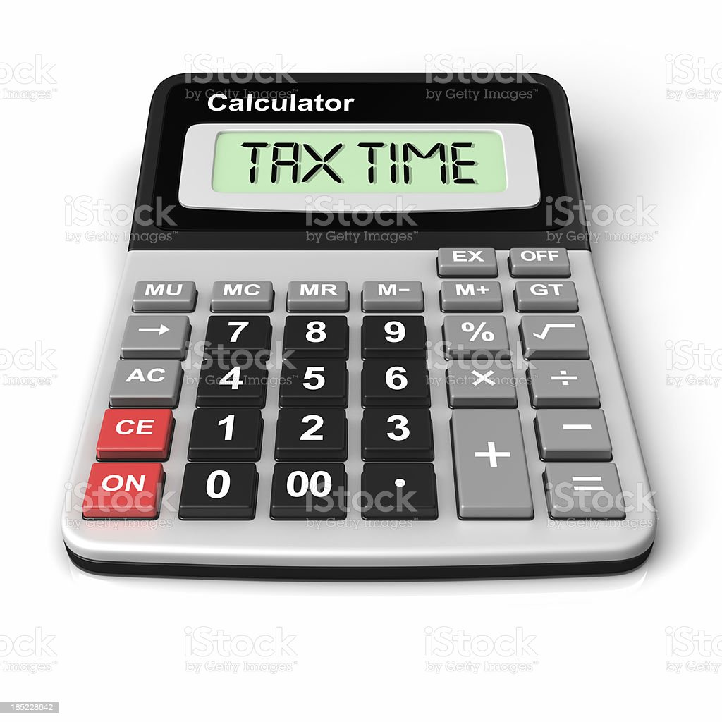 calculating Tax Time royalty-free stock photo