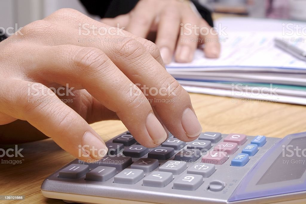 Calculation 3 royalty-free stock photo