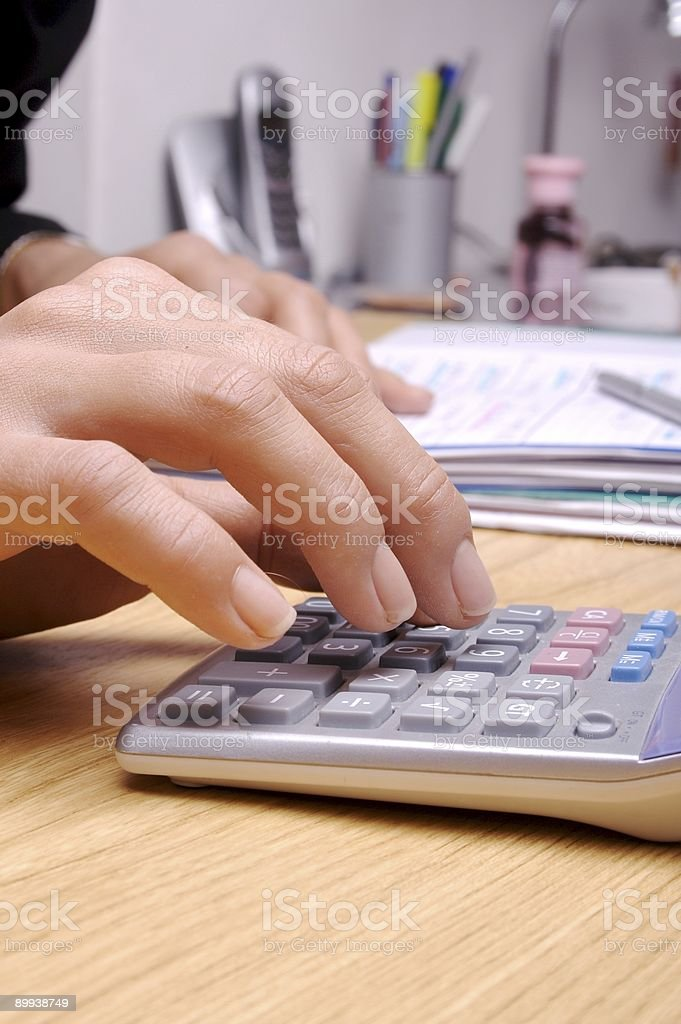 Calculation 4 royalty-free stock photo