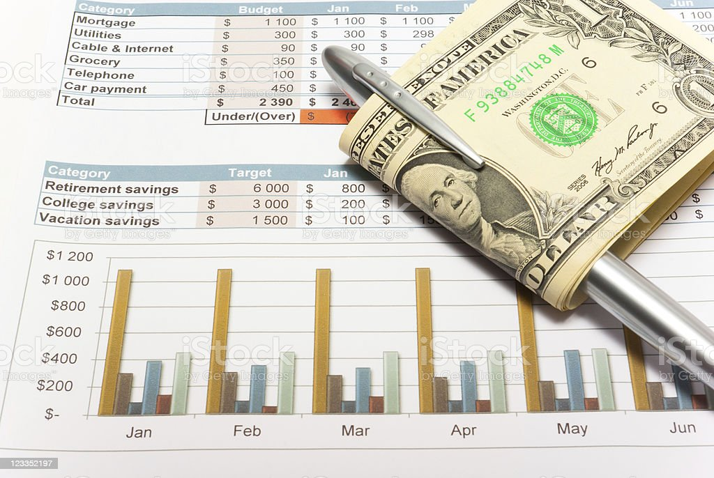 Calculation of house budget. royalty-free stock photo