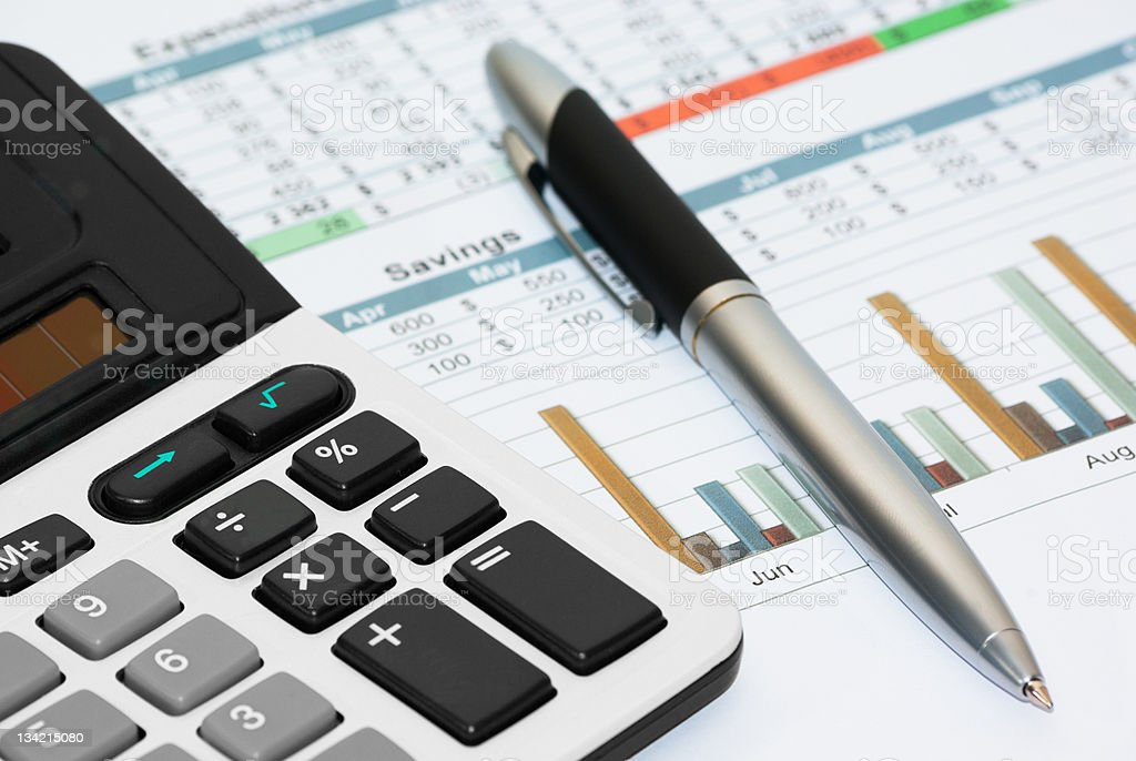 Calculation of house budget royalty-free stock photo