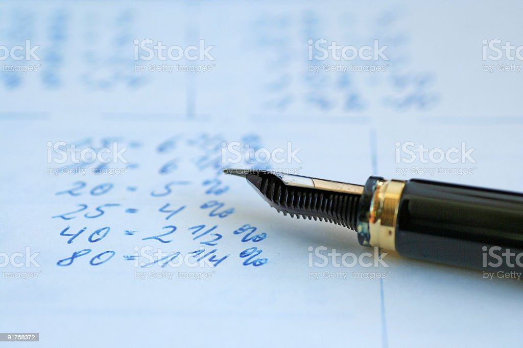 Calculation royalty-free stock photo