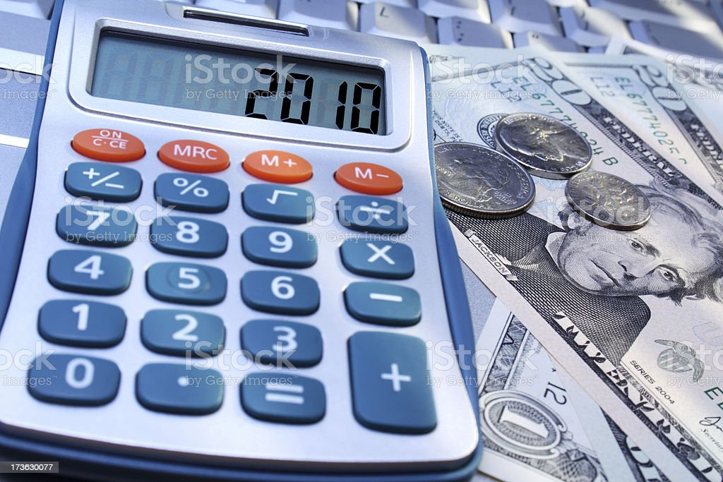 Calculations 2010 royalty-free stock photo