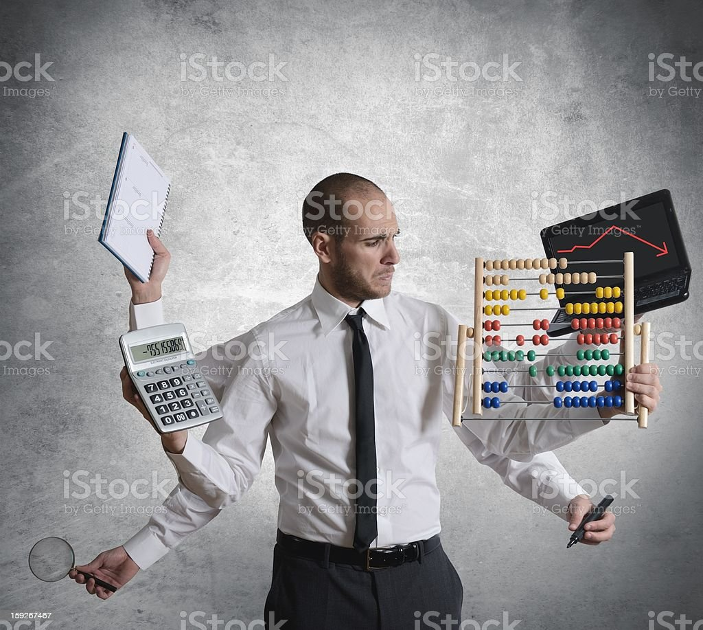 Calculations and crisis royalty-free stock photo