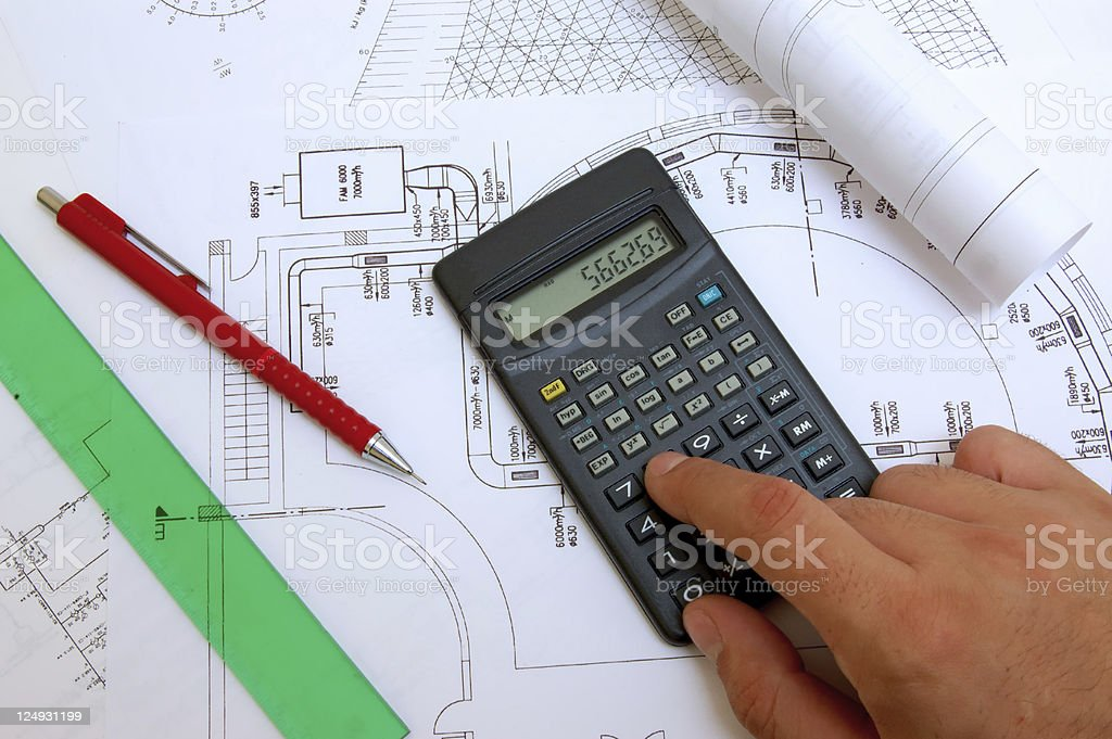 calculations royalty-free stock photo