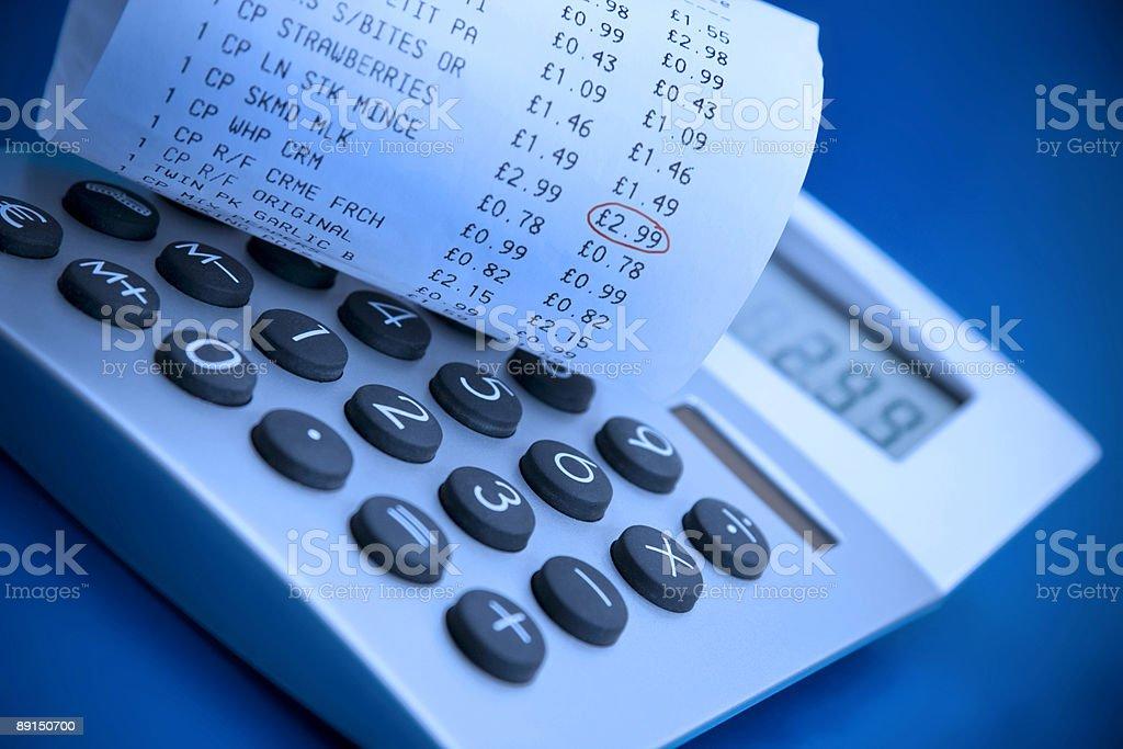Калькулятор и Деньги Регистрируют получения Стоковые фото Стоковая фотография