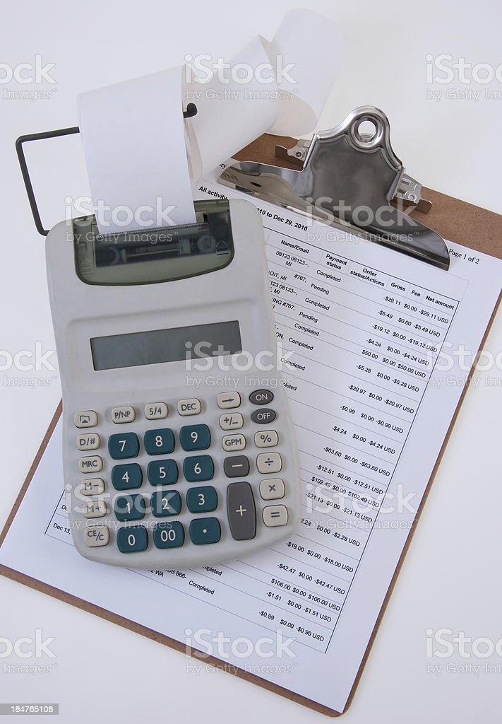 Calculator and Clip Board stock photo