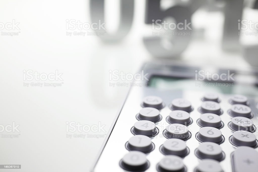 Calculator and Numbers royalty-free stock photo