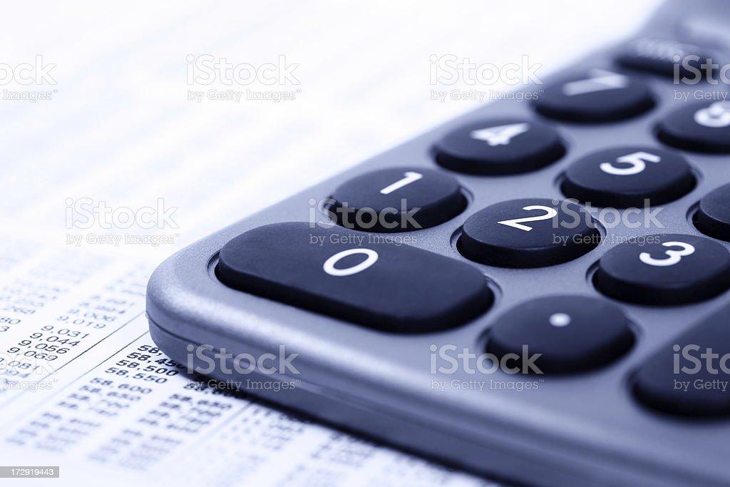 Calculator Close-Up royalty-free stock photo