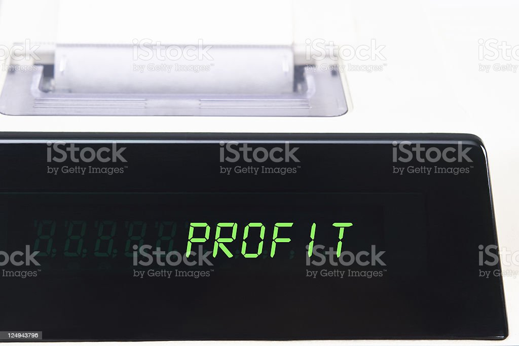 Calculator Display - Profit royalty-free stock photo