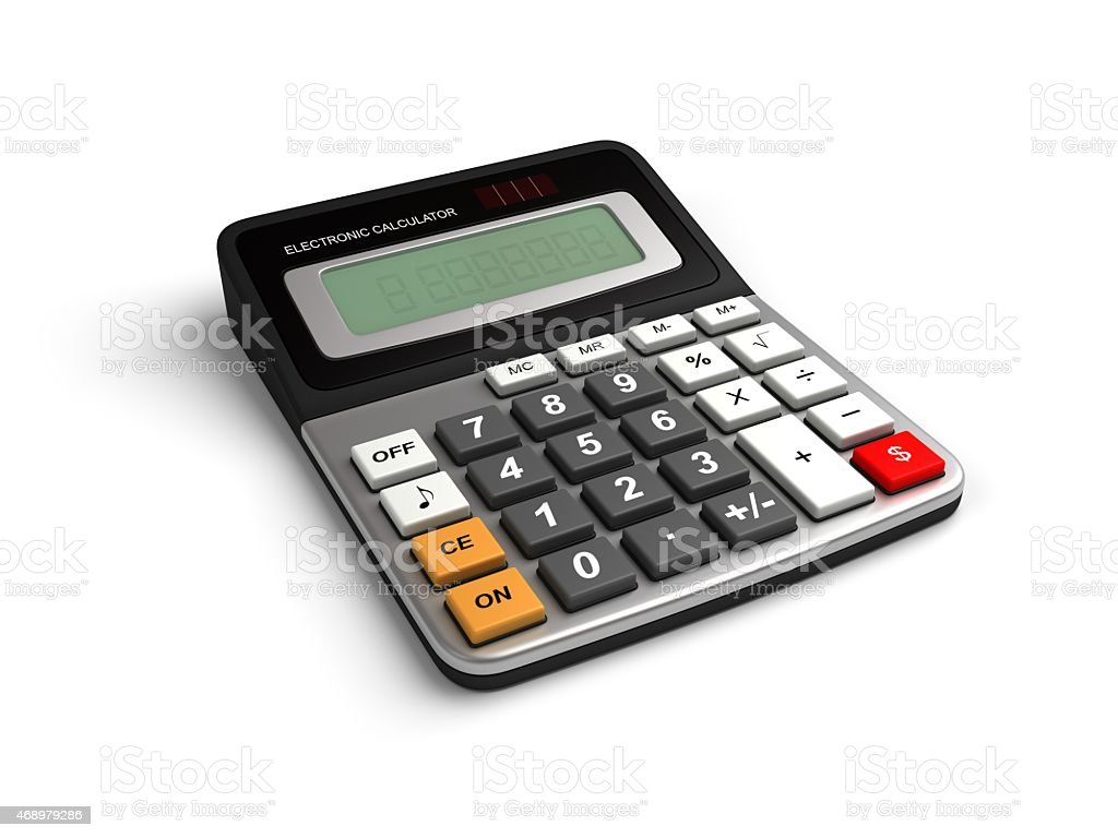 Calculator dollar Sign stock photo