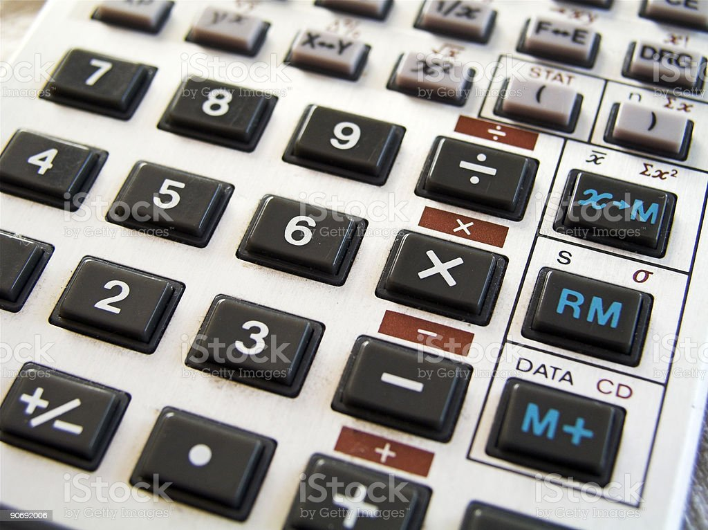 Calculator I stock photo