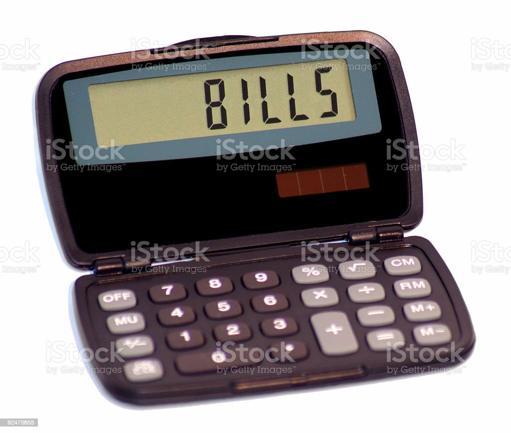 Calculator II stock photo