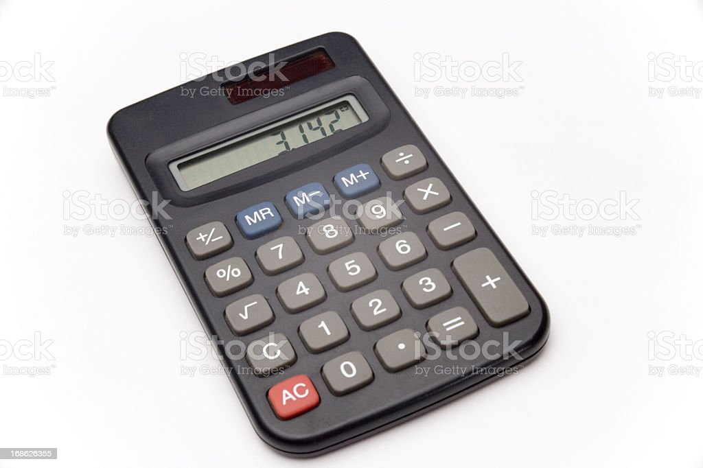Calculator isolated on white stock photo