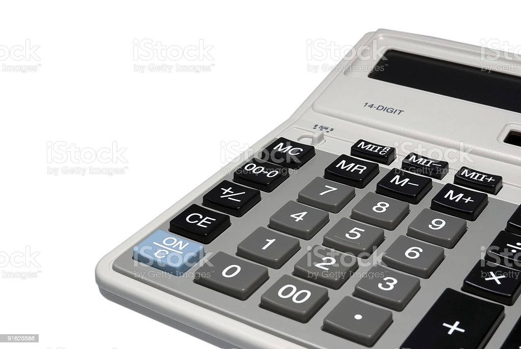 Calculator isolated with clipping path 8527 royalty-free stock photo