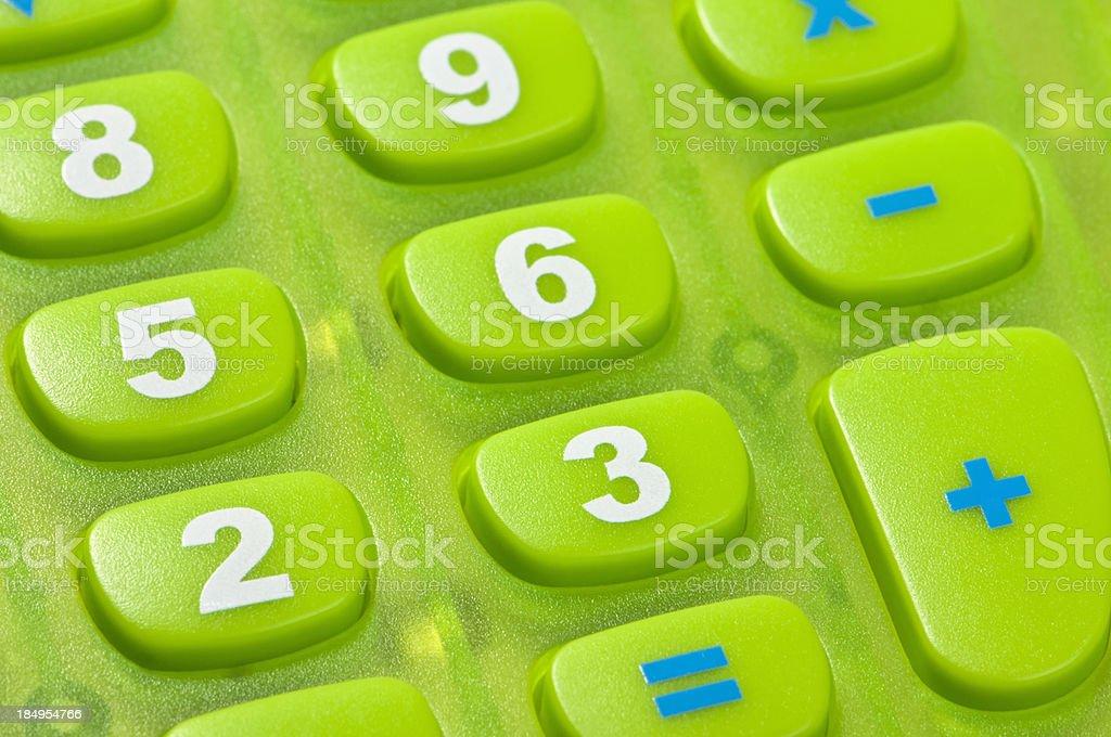 Calculator Keys Close Up stock photo